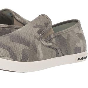 SeaVees Baja Slip On Grey Salt Wash Sneakers Size9